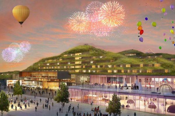 Un hôtel et un centre culturel pour les enfants à EuropaCity (vue d'artiste).