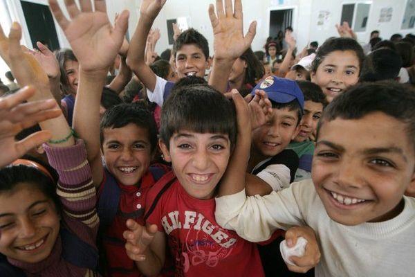 Enfants syriens dans le camp de réfugiés de Domiz