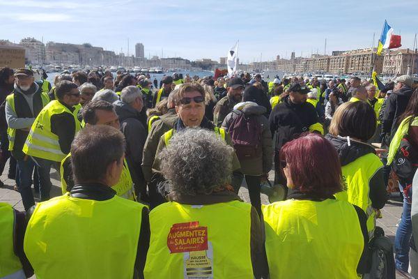Le rassemblement pour l'acte 17 à Marseille. Quelques centaines de personnes ont répondu présent.