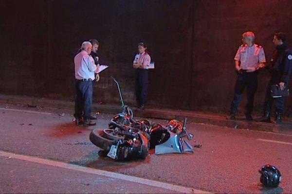 Accident d'un motard dans le tunnel de Bastia, en 2016