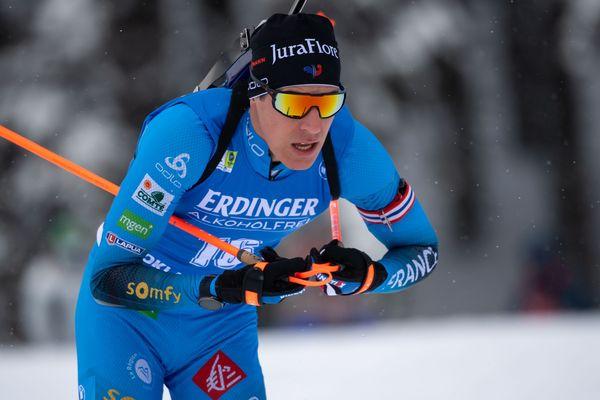 Quentin Fillon Maillet le 12 février aux mondiaux en Slovénie.