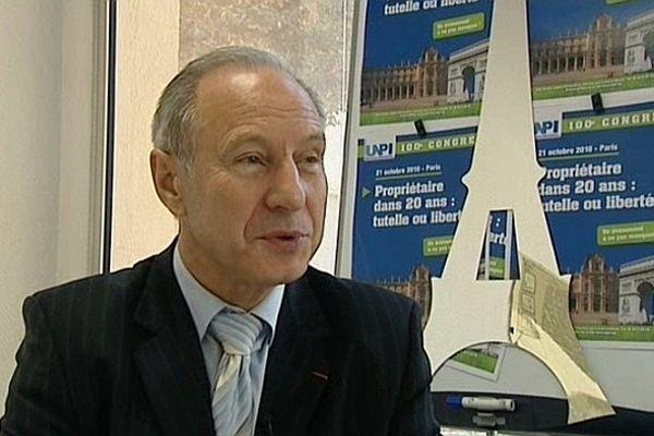 Jean Perrin a été réélu à l'unanimité président de l'Union nationale de la propriété immobilière (Unpi)