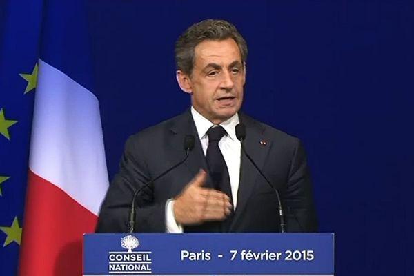 Nicolas Sarkozy, président de l'UMP, lors du Conseil National du 7 février