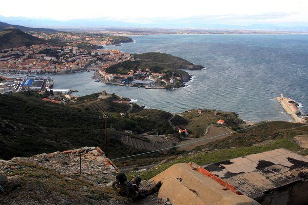 Le fort Bear à Collioure, site militaire visé par trois jeunes jihadistes en 2015, leur attentat avait été déjoué.