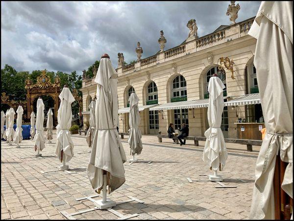 """La terrasse du Jean-Lamour à Nancy. """"Il ne faut pas que la météo vienne tout gâcher""""."""