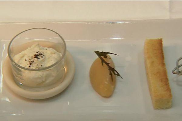 Plat du restaurant le Pavillon des Boulevards, un restaurant en course pour les étoiles Michelin à Bordeaux le 7 février