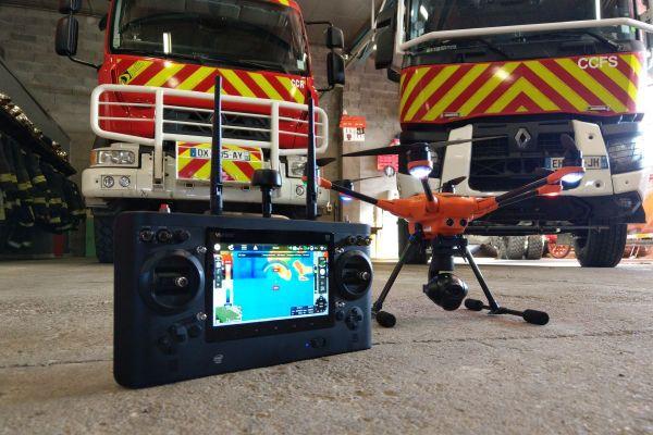 Depuis juin 2019, les sapeurs-pompiers de l'Allier ont un drone à leur disposition.