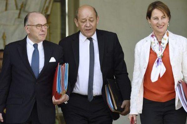 Les trois ministres sortant de l'Elysée
