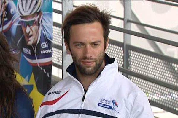 Vincent Pelluard le 9 mai 2016 au centre d'entrainement de l'équipe de France de BMX  à Montigny-le-Bretonneux (Yvelines)