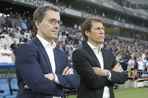 Jacques-Henri Eyraud et Rudi Garcia lors du match OM-Nice
