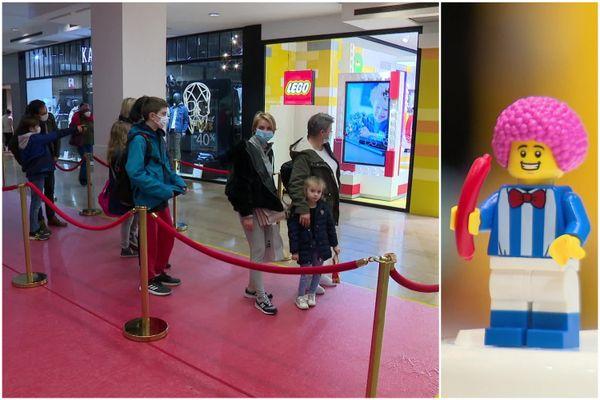 On fait la queue dans les Halles pour les petites briques colorées et les célèbres figurines jaunes.