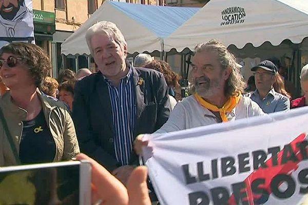 Perpignan : nouvelle manifestation en soutien aux indépendantistes catalans en prison - 21 avril 2018.