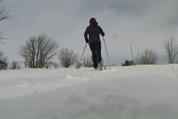 Dans les monts du Forez, sur les pistes de ski nordique du col du Béal, vingt centimètres de neige fraîche sont tombés le 19 janvier.
