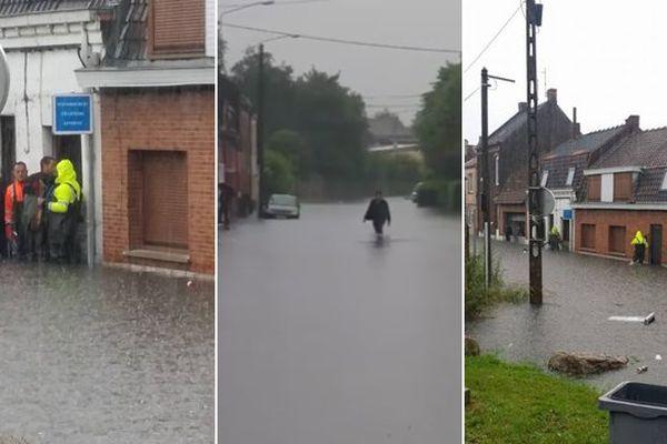 Inondations à Wattrelos ce vendredi.