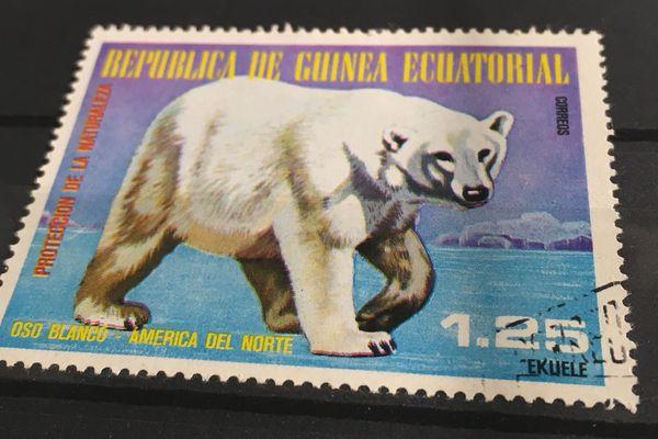 Prouesse de la philatélie : un ours polaire en Guinée Equatoriale.