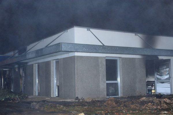 La mutualité sociale agricole de Morlaix, incendiée le 20 septembre 2014
