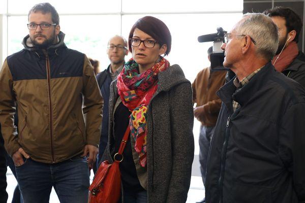Amandine Iehlen, l'une des parties civiles, fille de Damien Iehlen, décédé en 2008. Il est l'une des victimes présumées de l'anesthésiste de Besançon.