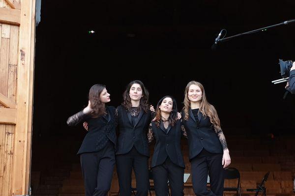 Le quatuor Akilone a résidé à la ferme de Villefavard du 25 février au 3 mars 2019