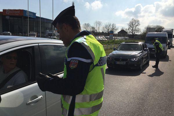 Contrôle de gendarmerie, le 17 mars 2020