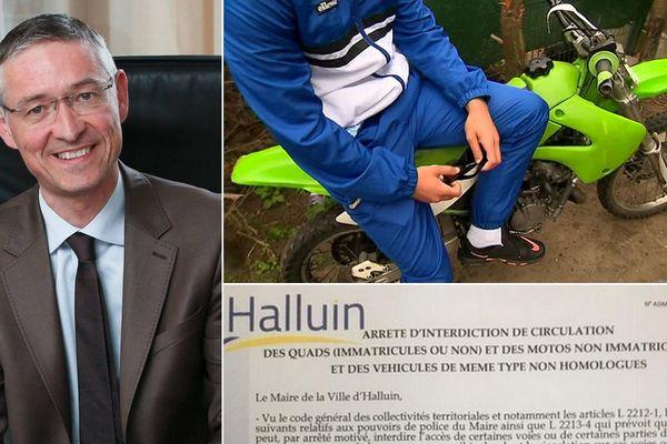 Le maire d'Halluin Gustave Dassonville vient de prendre un arrêté municipal pour lutter contre les rodéos urbains.