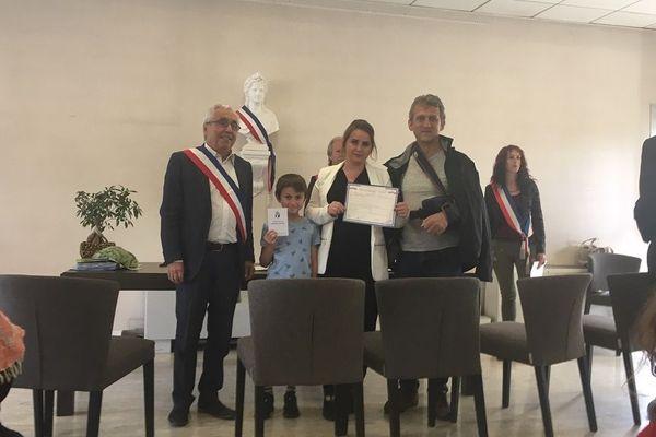 La cérémonie a eu lieu, samedi 22 juin 2019, en mairie de Portet-sur-Garonne.