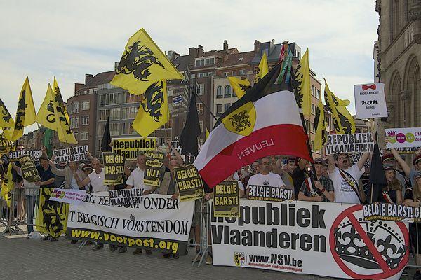 En 2013, les indépendantistes flamands manifestaient encore pour plus d'autonomie. (archive)