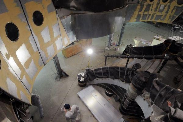 L'intérieur du MSC Divina en construction