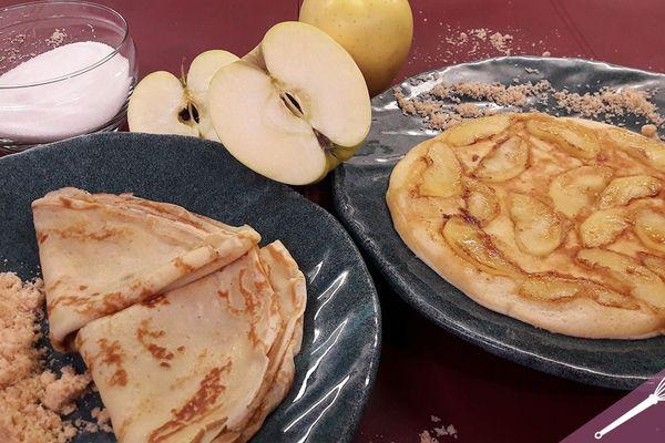 Les crêpes et crêpes soufflées aux pommes