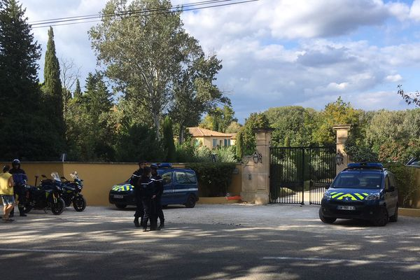 La propriété de Charles Aznavour à Mouriès ce midi.