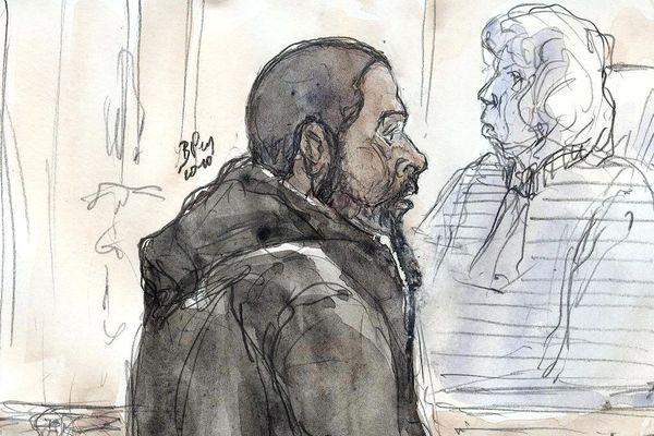 Un croquis de Peter Cherif, réalisé en 2011 lors de son procès.