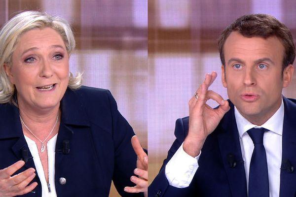 Marine Le Pen et Emmanuel Macron ce mercredi soir lors du débat présidentiel