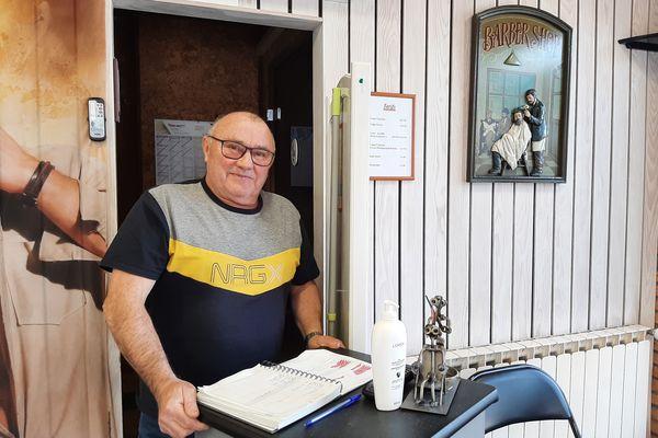 Marc Dollez, coiffeur pendant 50 ans à Albert