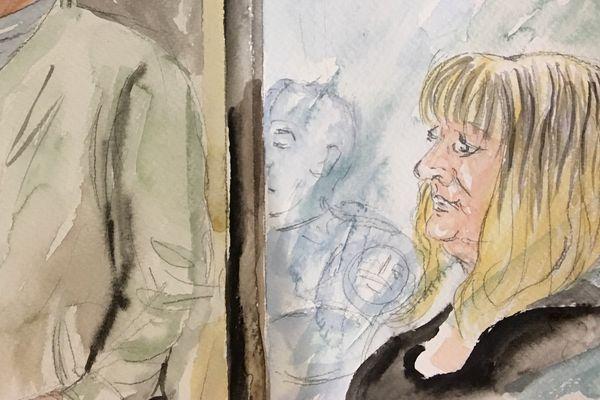 Cécile Bourgeon, la mère de Fiona, lors de son procès aux assises du Puy-de-Dôme, à Riom, le 14 novembre 2016.