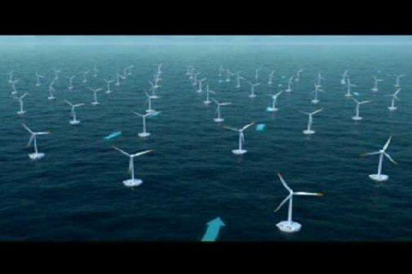 Un parc d'éoliennes flottantes