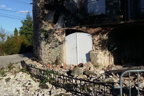 Les dégâts causés au Teil par le tremblement de terre du 11 novembre 2019 ressenti en Ardèche