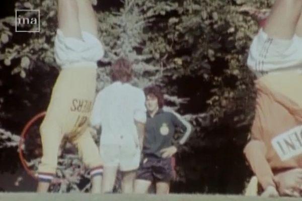 L'équipe du FC Nantes dans la années 70 à l'entraînement
