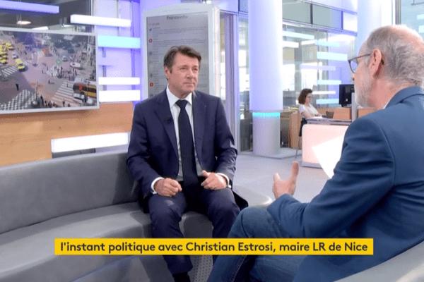 Dans la chronique #InstantPolitique, le maire de Nice Christian Estrosi.