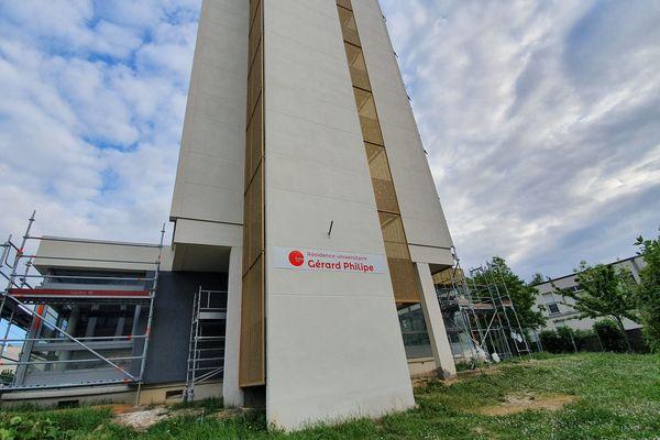 La résidence universitaire Gérard Philipe à Reims, le 28 avril 2020.
