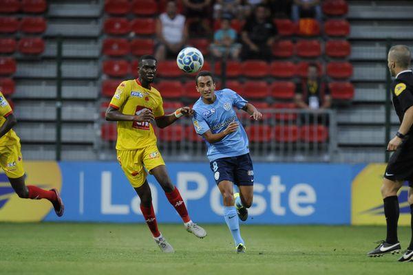 Match US Orléans-Tours FC, en coupe de la Ligue, le 11 août 2015.