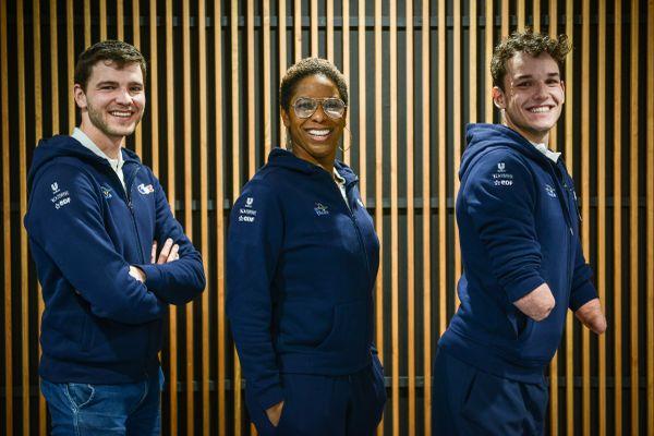 Le trio composé de  Matthieu, Malia et Théo.