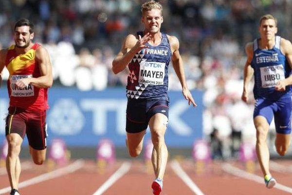 Kevin Mayer aux Mondiaux 2017 au 100 m - août 2017.