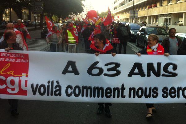 Les salariés manifestent contre l'allongement de la durée de cotisation