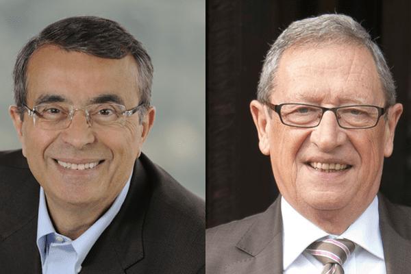 Jean-Jack Queyranne, président de la région Rhône-Alpes & René Souchon, président de la région Auvergne