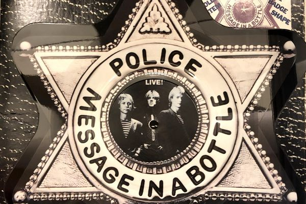 Picture Disc en forme d'étoile de shérif pour Police.
