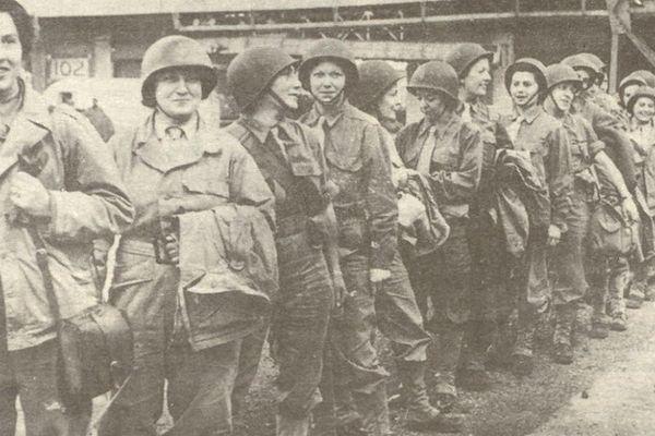 Embarquement à Southampton, 1944.
