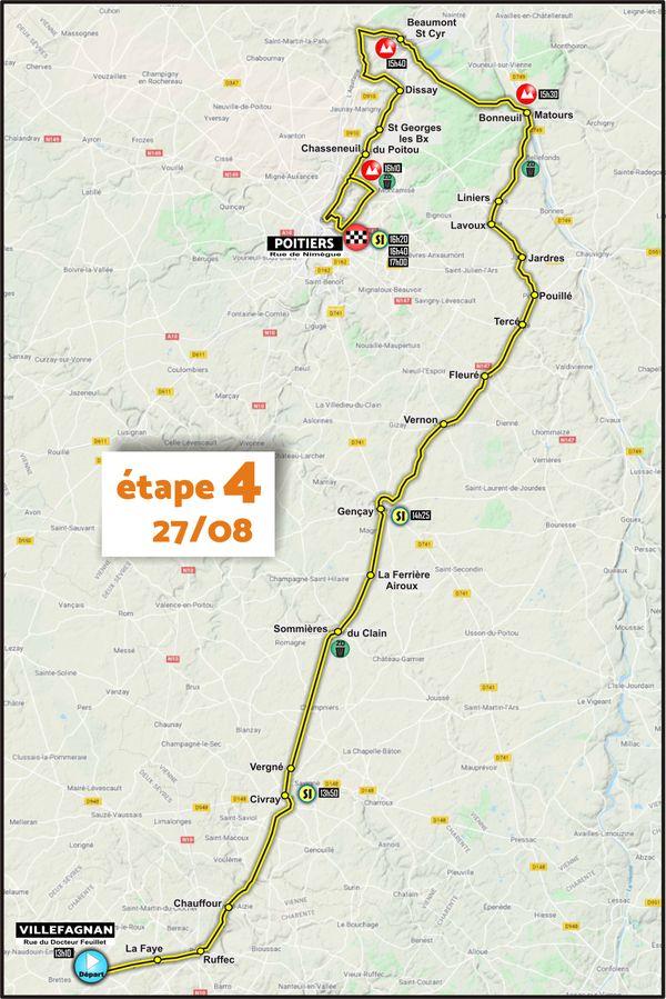 Etape 4 - Villefagnan > Poitiers - Tour du Poitou-Charentes en Nouvelle-Aquitaine