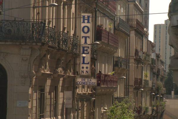 Les hôtels du centre-ville de Montpellier sont à l'arrêt depuis maintenant 3 semaines - avril 2020