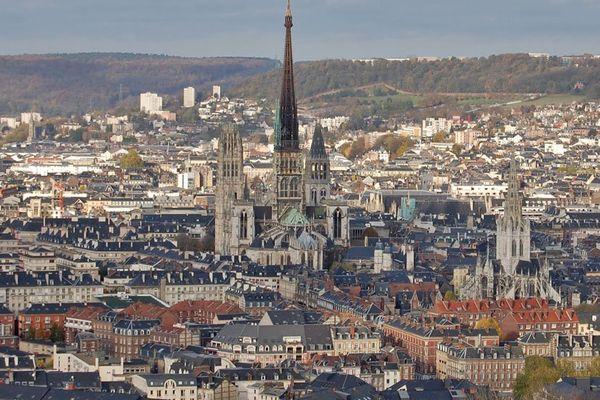 Le centre de Rouen vu de la côte Sainte-Catherine (archives)