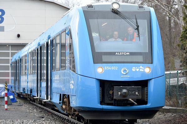 Un Coralia train à hydrogène d'Alstom.