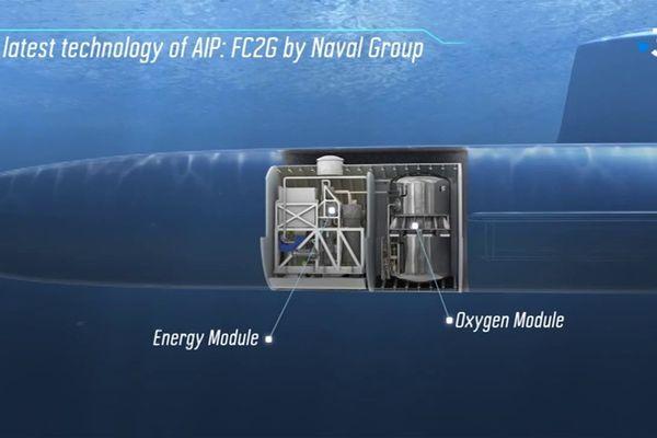 La nouvelle technologie AIP (Air independent propulsion) développée par Naval Group à Indret, a permis à un sous-marin conventionnel de produire de l'électricité durant 18 jours sans remonter à la surface.